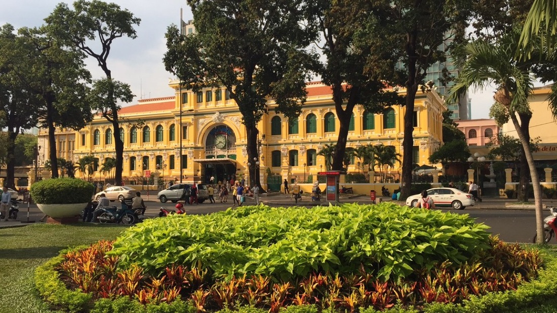 ho chi minh city, saigon, vietnam, travel, south east asia, sikh, post office