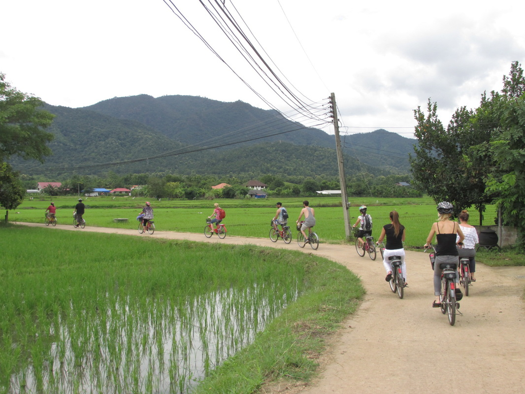 cycling, tour, thailand, travel, sikh, activity, village